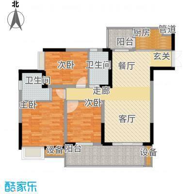 金科云湖天都94.83㎡1号楼4号房面积9483m户型