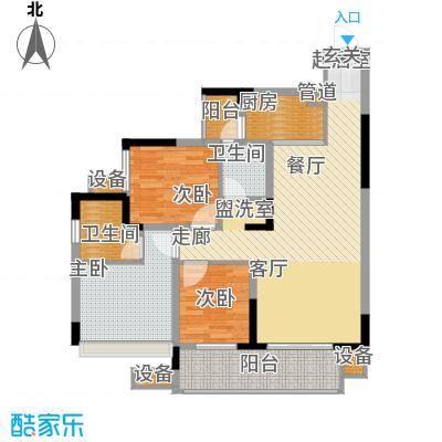 金科云湖天都84.30㎡5、6、7号楼面积8430m户型