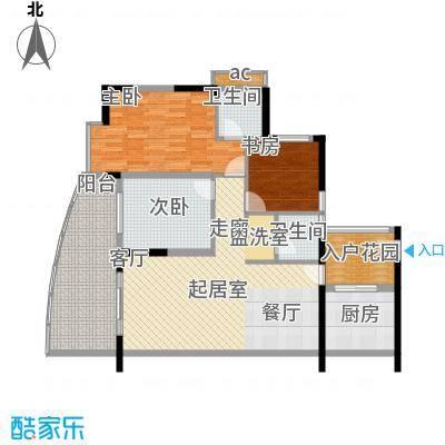 海棠晓月蓝滨城106.00㎡B面积10600m户型