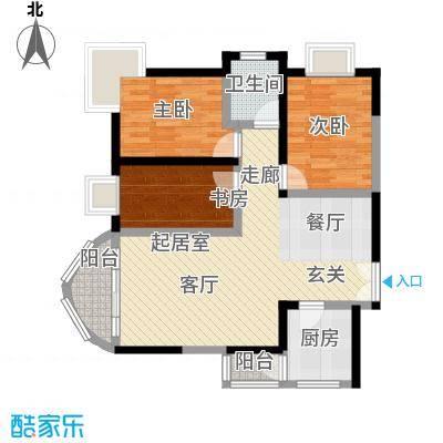 万友康年国际公寓83.72㎡面积8372m户型