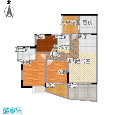 海棠晓月蓝滨城110.00㎡B型2面积11000m户型