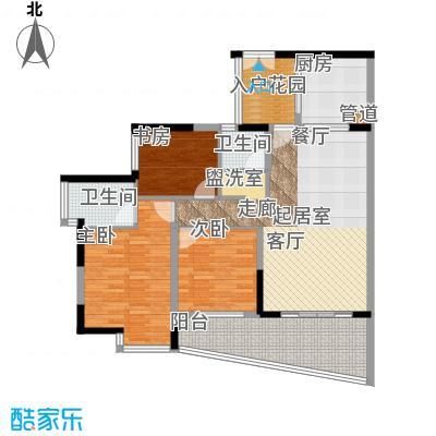 海棠晓月蓝滨城107.00㎡B6号面积10700m户型