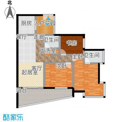海棠晓月蓝滨城107.00㎡F面积10700m户型