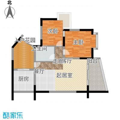 海棠晓月蓝滨城77.00㎡C面积7700m户型