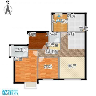 海棠晓月蓝滨城110.00㎡2面积11000m户型