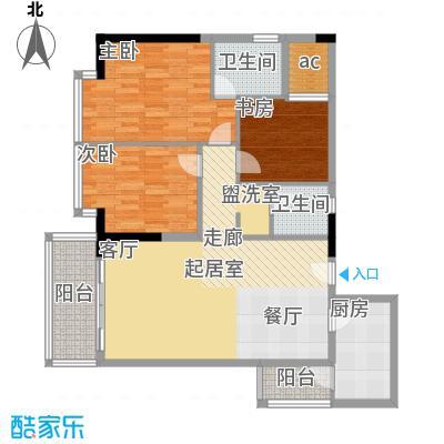海棠晓月蓝滨城75.00㎡C12A面积7500m户型