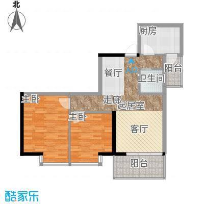 海棠晓月蓝滨城68.00㎡D面积6800m户型