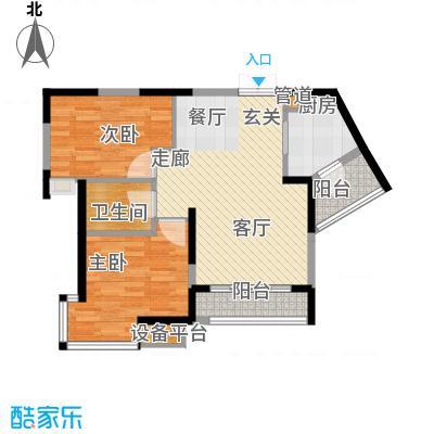 骏逸新视界73.00㎡c-d2面积7300m户型