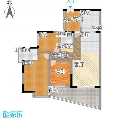 海棠晓月蓝滨城108.00㎡B面积10800m户型