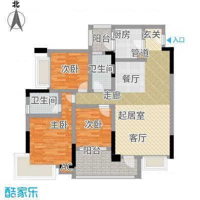 巨成龙湾95.58㎡5号楼2号房面积9558m户型
