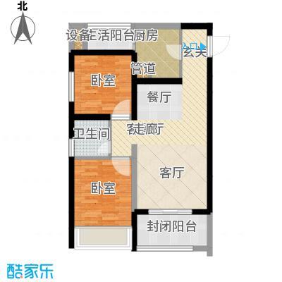 弘扬华城国际62.70㎡一期A2栋标面积6270m户型