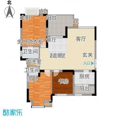鹏润蓝海94.81㎡C-6-A面积9481m户型