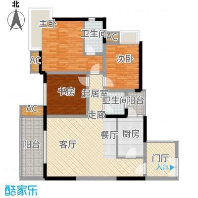 鹏润蓝海89.44㎡C-2/3-B(已售完面积8944m户型