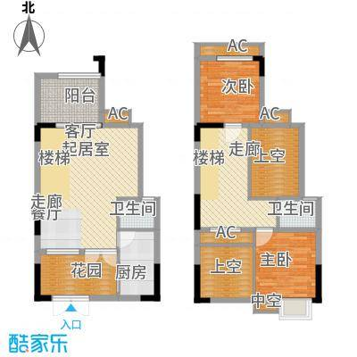 浩博方山境96.00㎡二期9号楼2、5号房标准层户型
