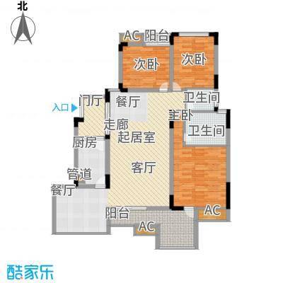 浩博方山境125.00㎡一期2号楼标准层A3户型