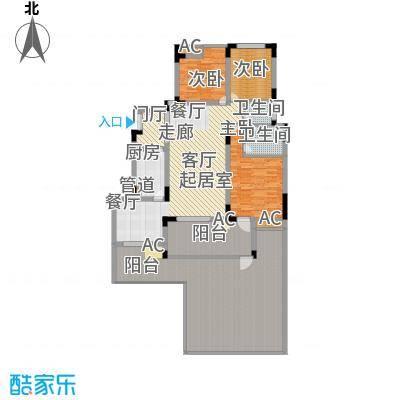 浩博方山境130.00㎡一期1号楼标准层A1户型