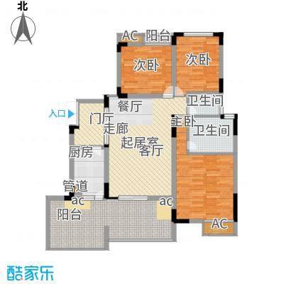 浩博方山境107.00㎡一期2号楼标准层A4户型