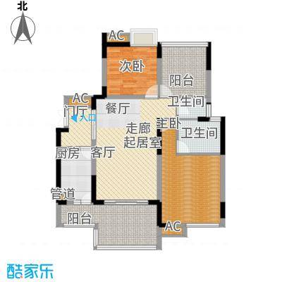 浩博方山境97.00㎡一期3号楼标准层B8户型