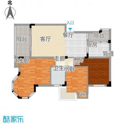 渝水坊二期93.15㎡一期4号楼1单元2层1号房2室户型