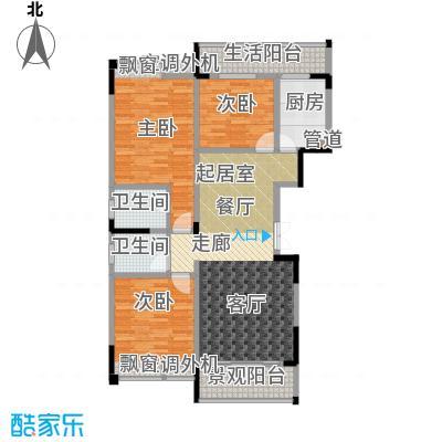 海宇西苑117.00㎡一期5号楼标准层D户型