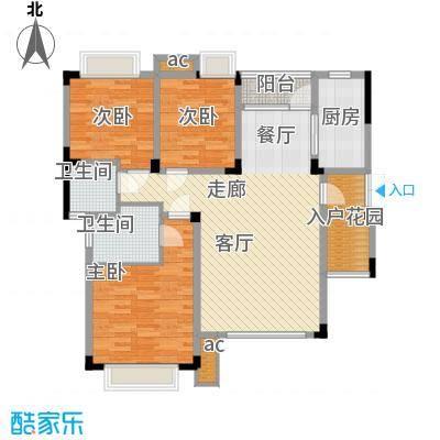 渝水坊二期93.37㎡一期8号楼1单元6层1号房3室户型