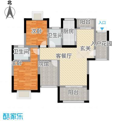 拓新香国城一期106.70㎡一期高层22号楼标准层A户型