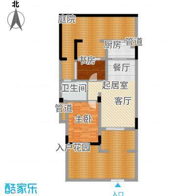翡翠岭64.90㎡一期1号楼叠墅标准层B-1户型