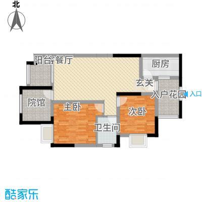 拓新香国城一期93.43㎡一期高层22号楼标准层B户型