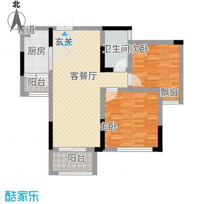 拓新香国城一期89.99㎡一期高层18/19号楼标准层E户型