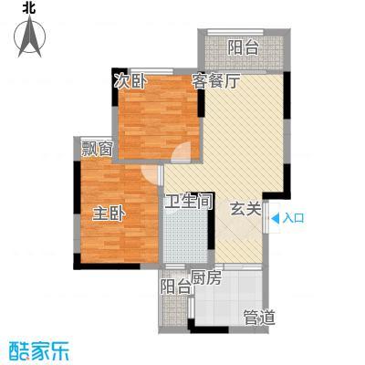 拓新香国城一期87.87㎡一期高层18/19号楼标准层D户型