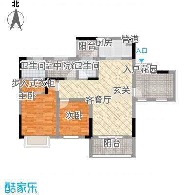 拓新香国城一期101.96㎡一期洋房15/16号楼标准层B户型