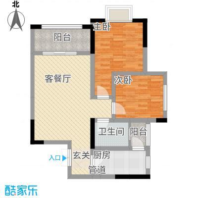 拓新香国城一期84.81㎡一期15号楼标准层C户型