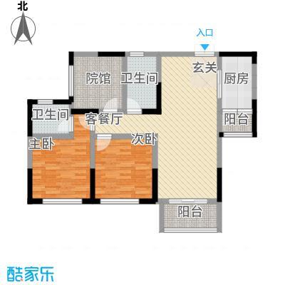 拓新香国城一期99.70㎡一期高层18/19号楼标准层B户型