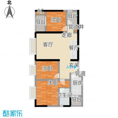 一城龙洲95.24㎡1315号楼F面积9524m户型