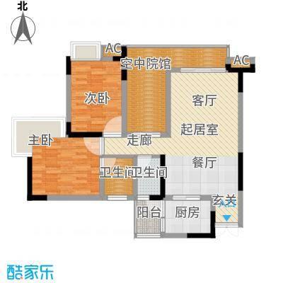 海尔海语江山78.73㎡一期11号楼面积7873m户型