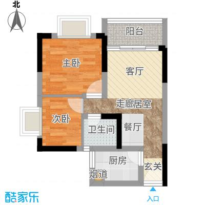 城市印象40.85㎡一单元52室面积4085m户型