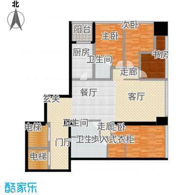 融创玖玺台176.00㎡一期3号楼标准层M户型