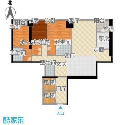 融创玖玺台180.00㎡一期5号楼标准层G1户型