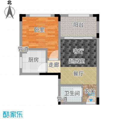 豪琪水云间49.07㎡二期电梯洋房标准层G户型