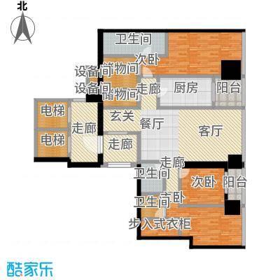 融创玖玺台165.00㎡一期5号楼标准层L户型
