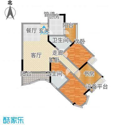 雅豪丽景117.21㎡2面积11721m户型