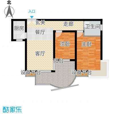 雅豪丽景81.38㎡面积8138m户型