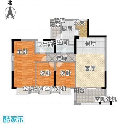 招商江湾城112.00㎡6-2-C面积11200m户型