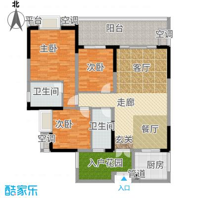 招商江湾城111.50㎡3期T10栋标准面积11150m户型
