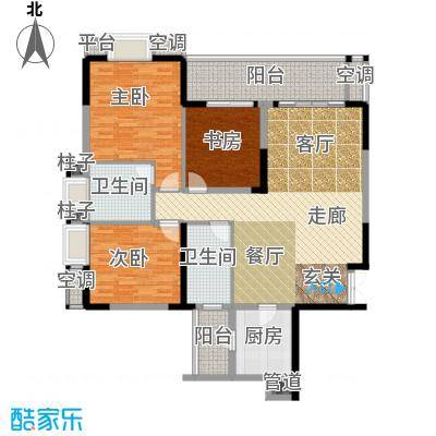 招商江湾城114.00㎡3期9号楼标准面积11400m户型