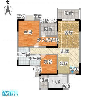 招商江湾城101.00㎡3期9号楼标准面积10100m户型