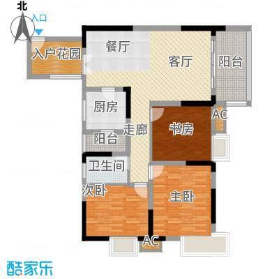 北城阳光今典93.96㎡4号楼3号房面积9396m户型