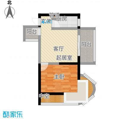 嘉韵山水城51.18㎡D2型1面积5118m户型