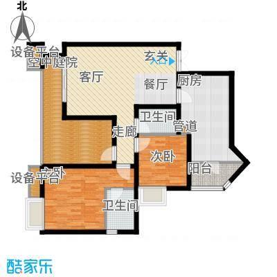 名敦道南滨国际公寓75.41㎡B42面积7541m户型