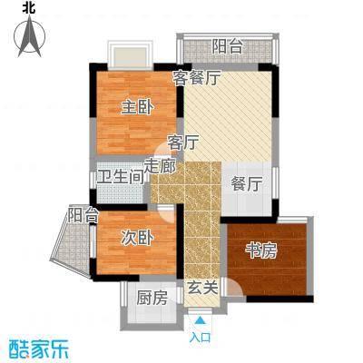 百康年世纪门72.12㎡A栋06号房面积7212m户型